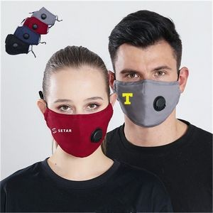 Cotton Face Mask with Valve